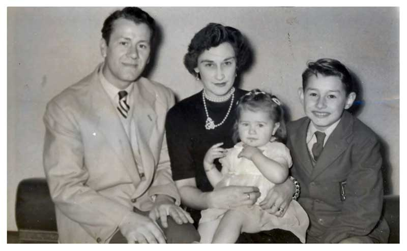 John Snr, Olive, young John and Janet,